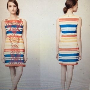Tabitha Banded Totem Stripe Embroidered Dress 4